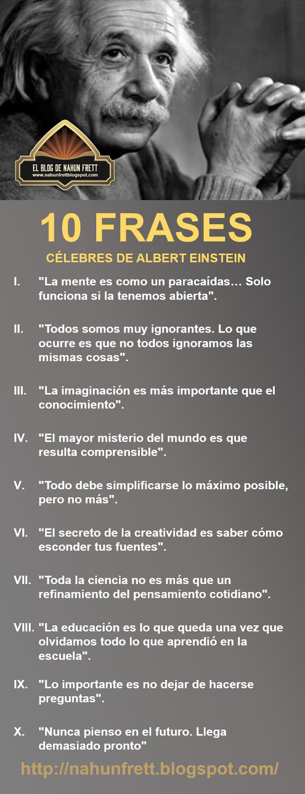 Xavier Mármol Blum 10 Frases Célebres De Albert Einstein