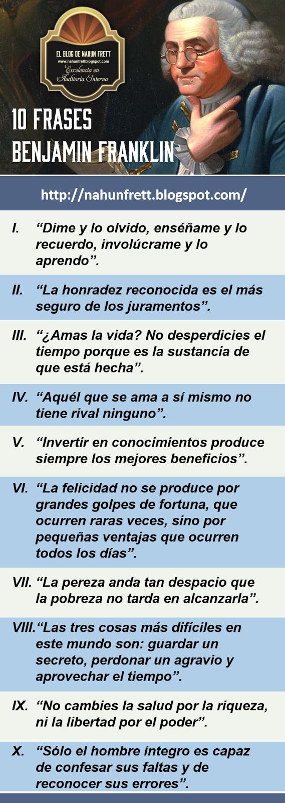 10 Frases De Benjamin Franklin Xavier Mármol Blum